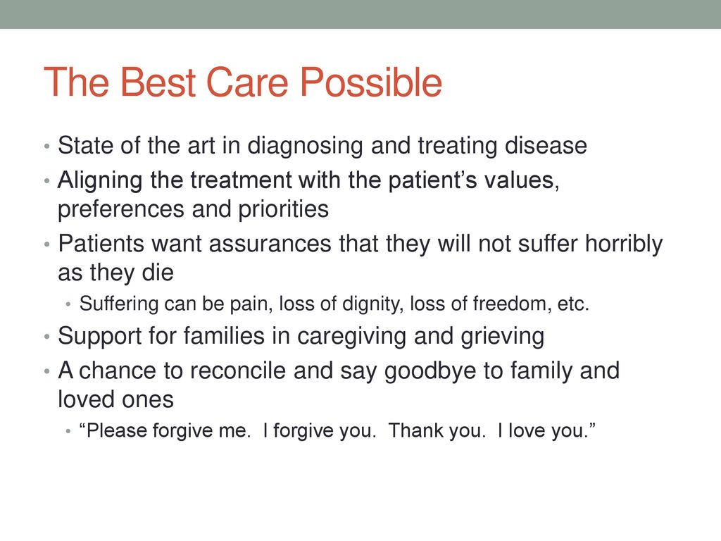 Issues in End of life care - ppt download