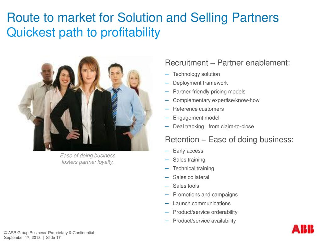 Route to market for Solution and Selling Partners