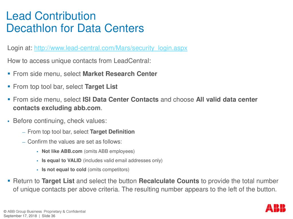 Lead Contribution Decathlon for Data Centers