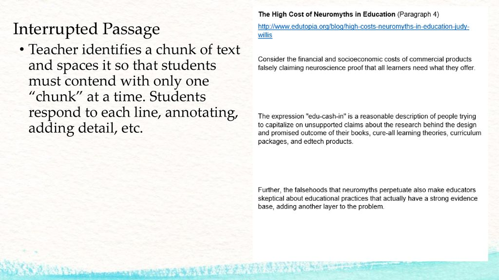 The High Cost Of Neuromyths In Education >> Literacy Strategies With A Udl Focus Ppt Download