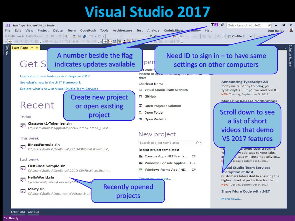 Using Visual Studio with C# - ppt download