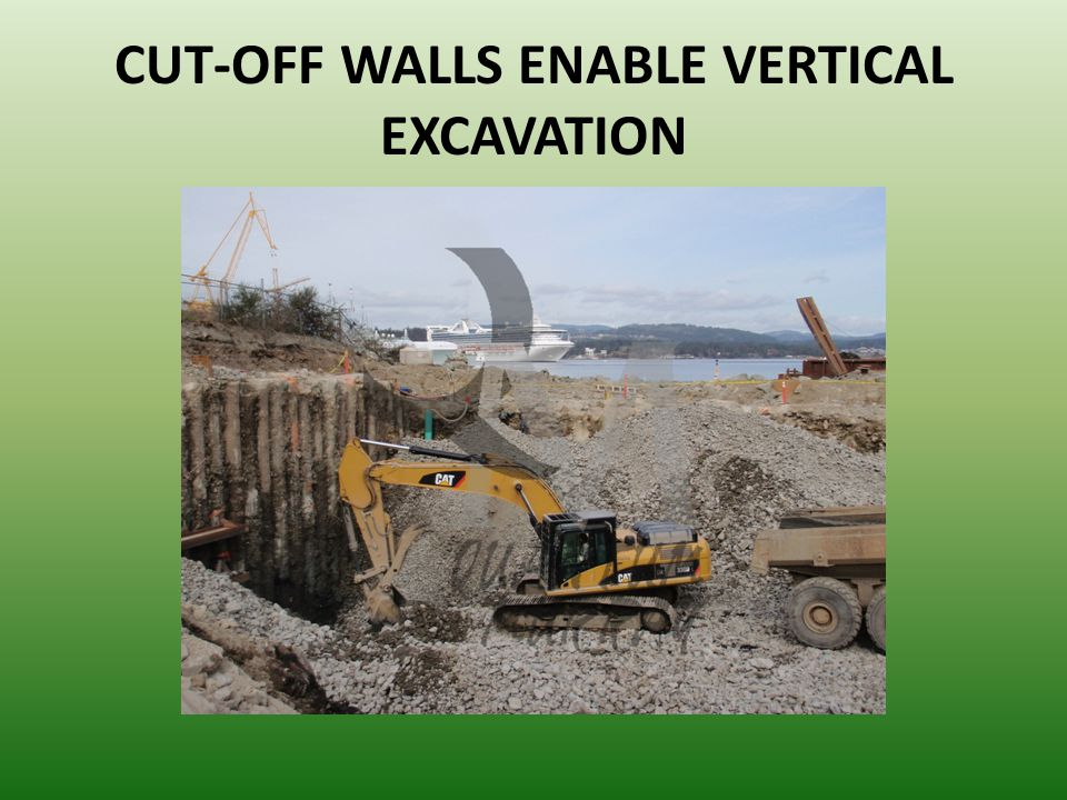 CUT-OFF WALLS ENABLE VERTICAL EXCAVATION