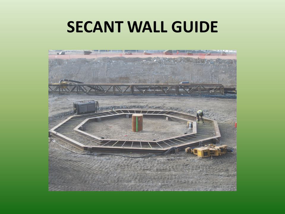 SECANT WALL GUIDE