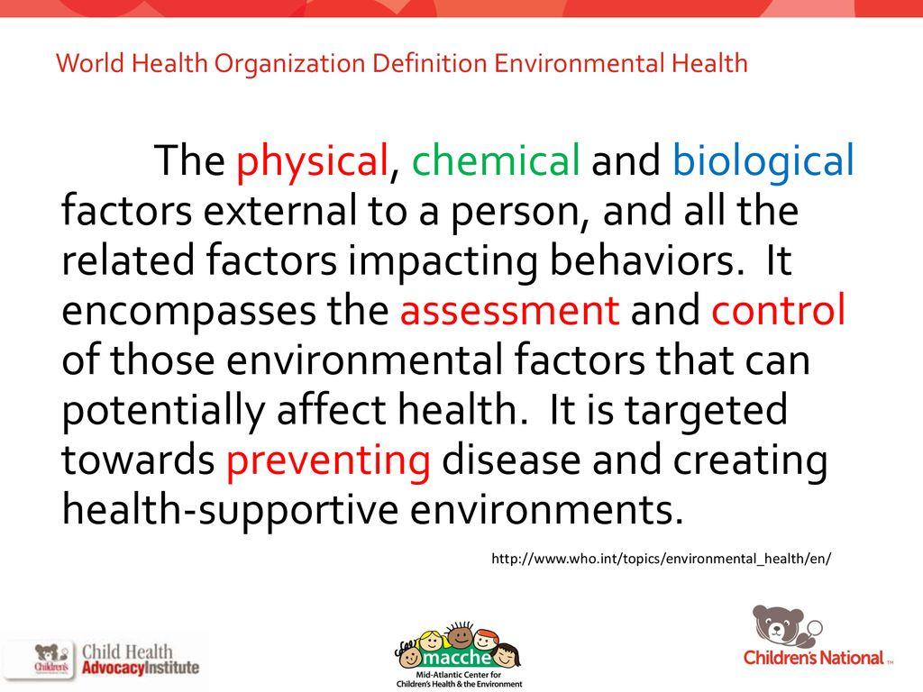 children's environmental health in schools - ppt download