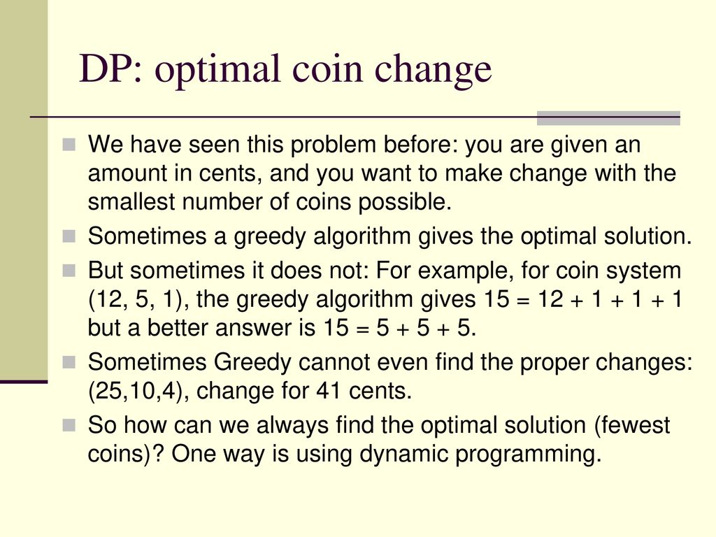 Lecture 10  Dynamic Programming I - ppt download