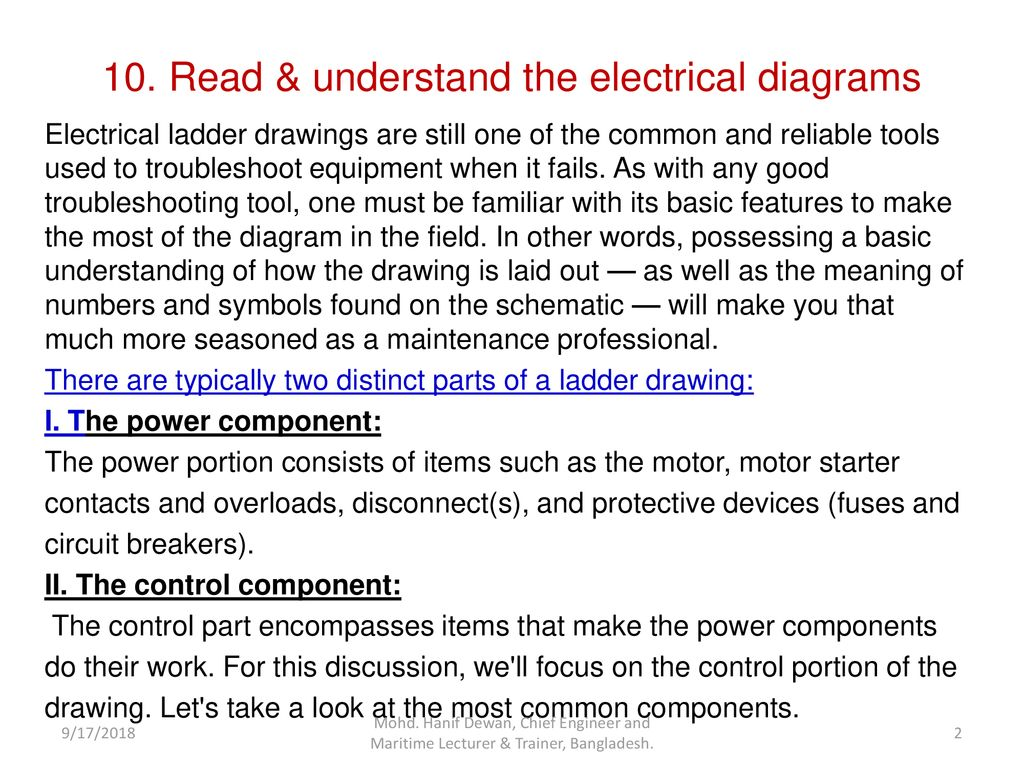 The Electrical Diagram Ppt Download Diagrams Read Understand