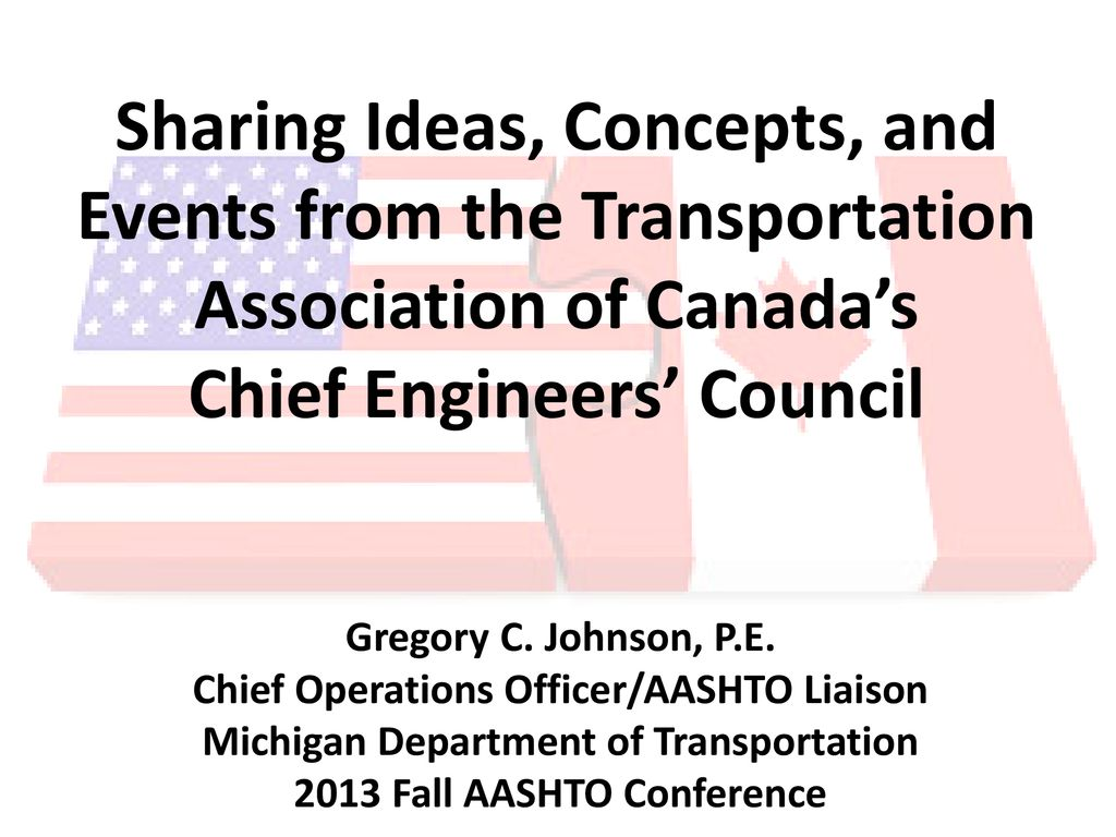 Sharing Ideas, Concepts, and Events from the Transportation - ppt