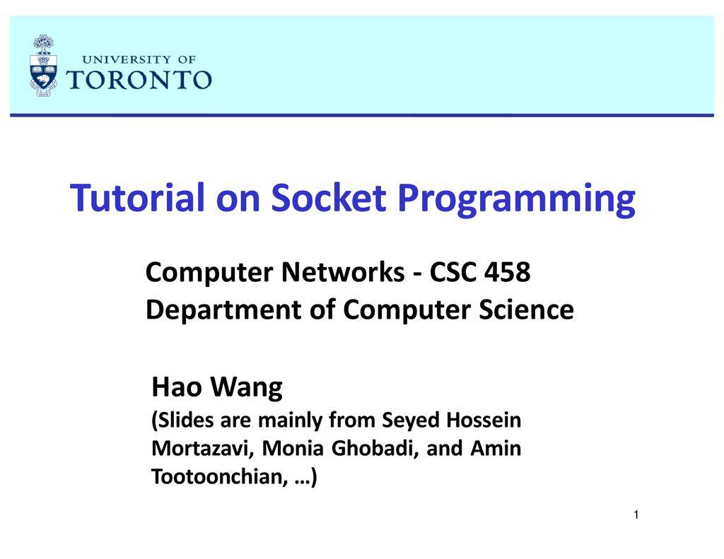 Tutorial on Socket Programming - ppt download