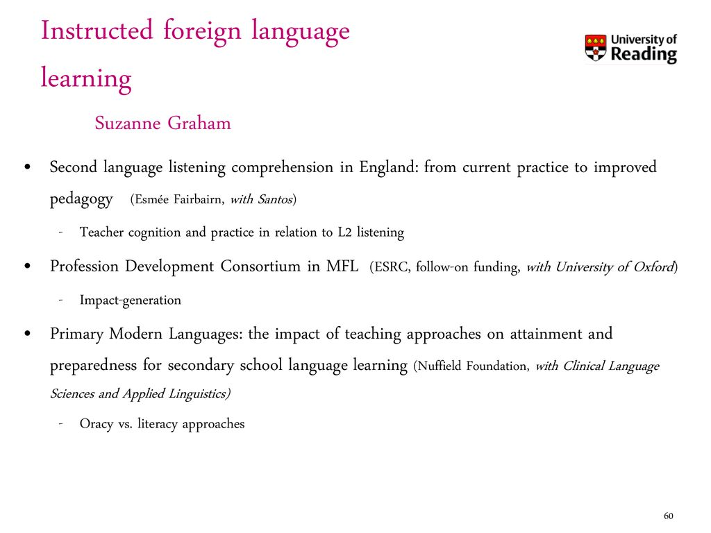 Institute Of Education University Reading Ppt Download Electric Circuits And Fields Nuffield Foundation Instructed Foreign Language Learning Suzanne Graham