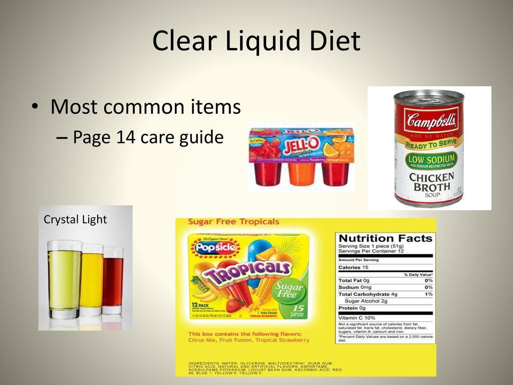 crystal light clear liquid diet