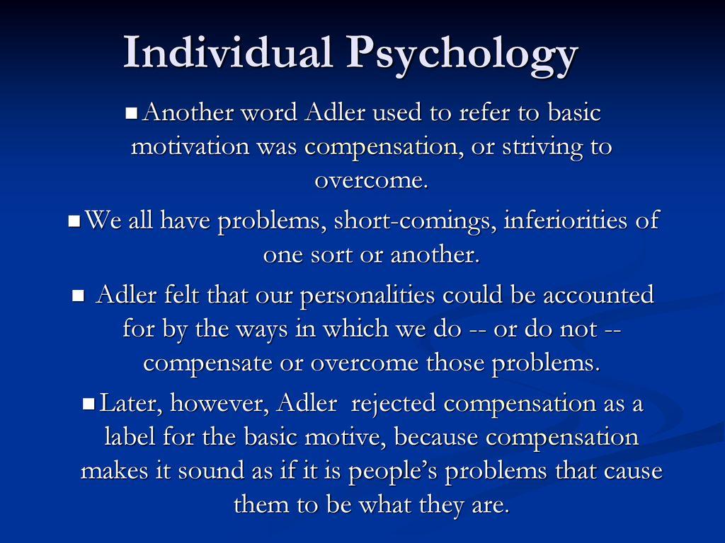 Alfred Adler Individual Psychology Ppt Download