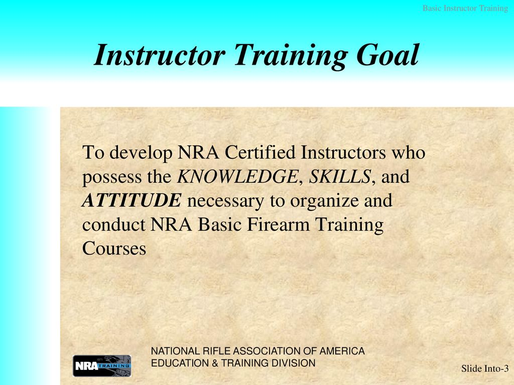 Nra Basic Instructor Training Address Db