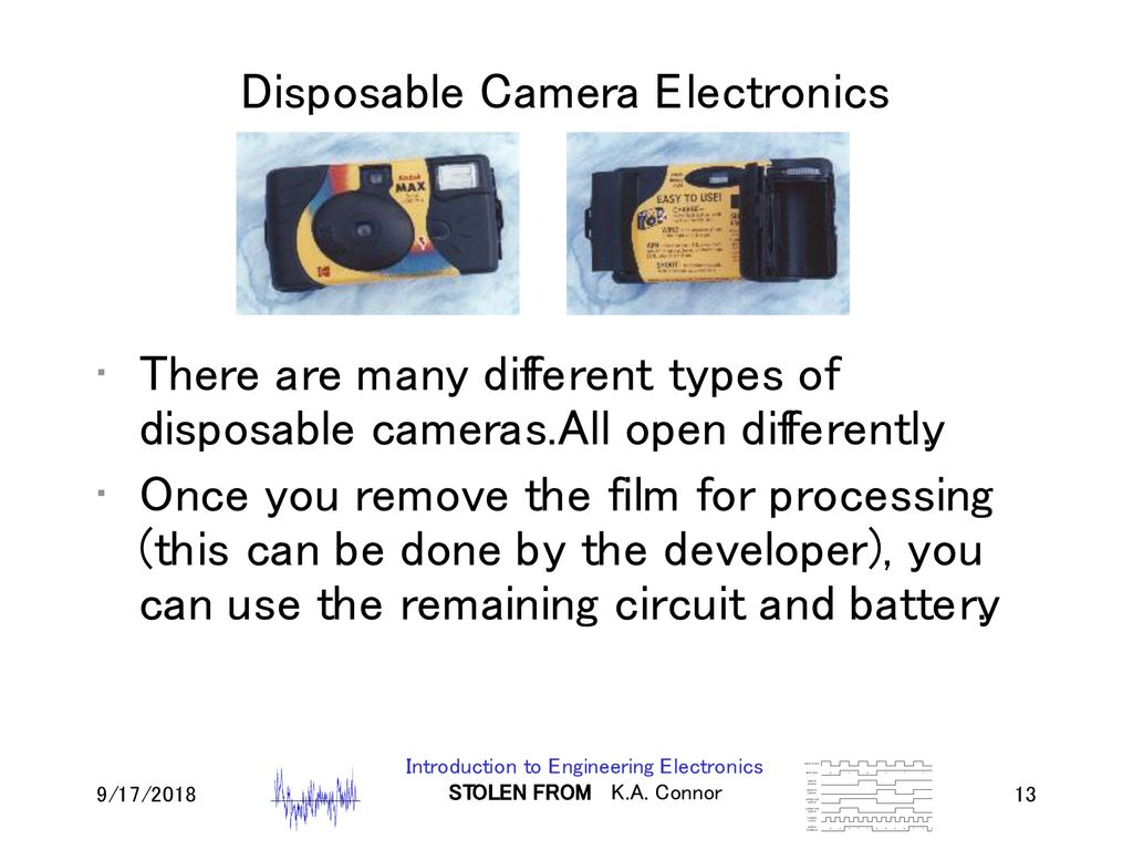 Lecture 10 Disposable Camera Ppt Download Flash Circuit Further Electronics