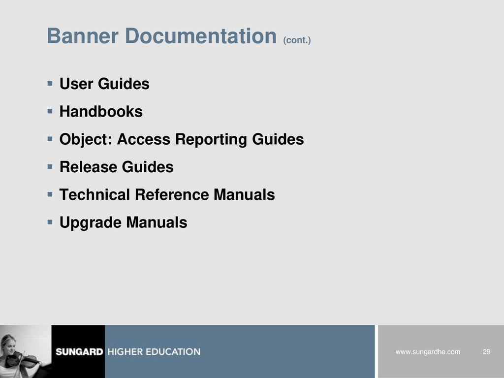29 Banner Documentation ...