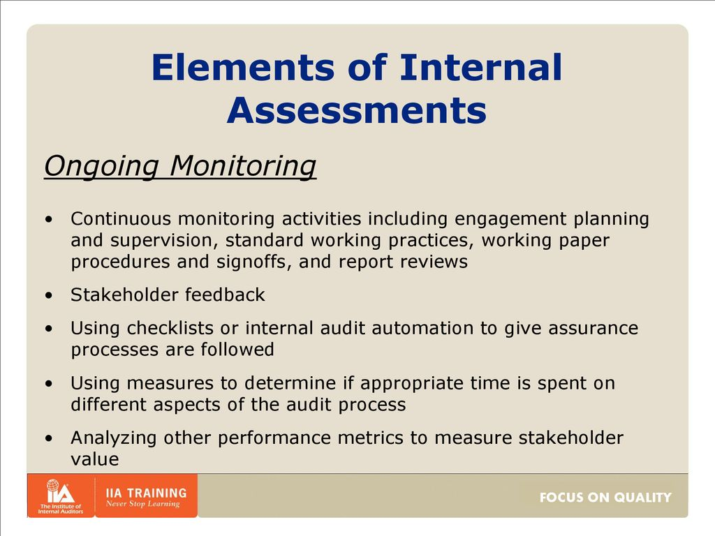 Quality Assurance and Improvement Program (QAIP) Practice