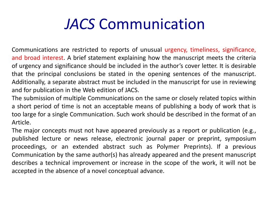 Types Of Publications Articles Communications