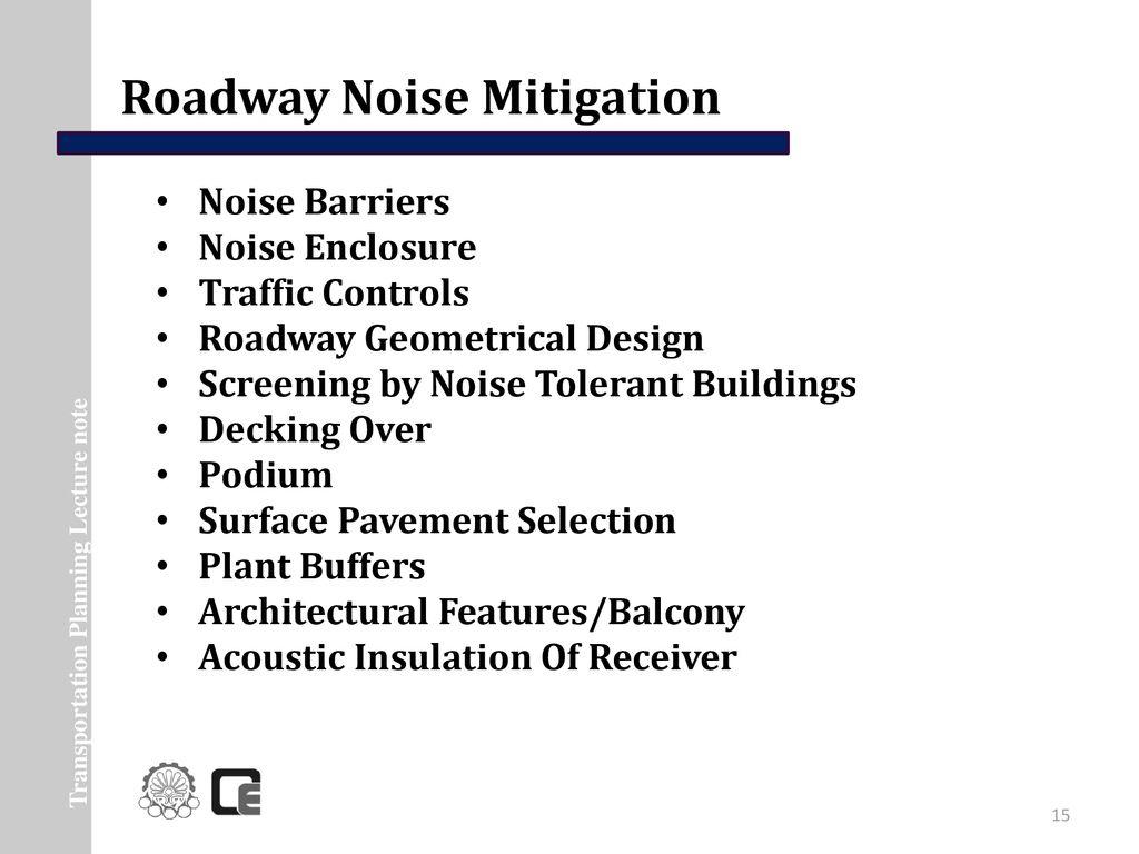 Noise Pollution Noise Mitigation - ppt download