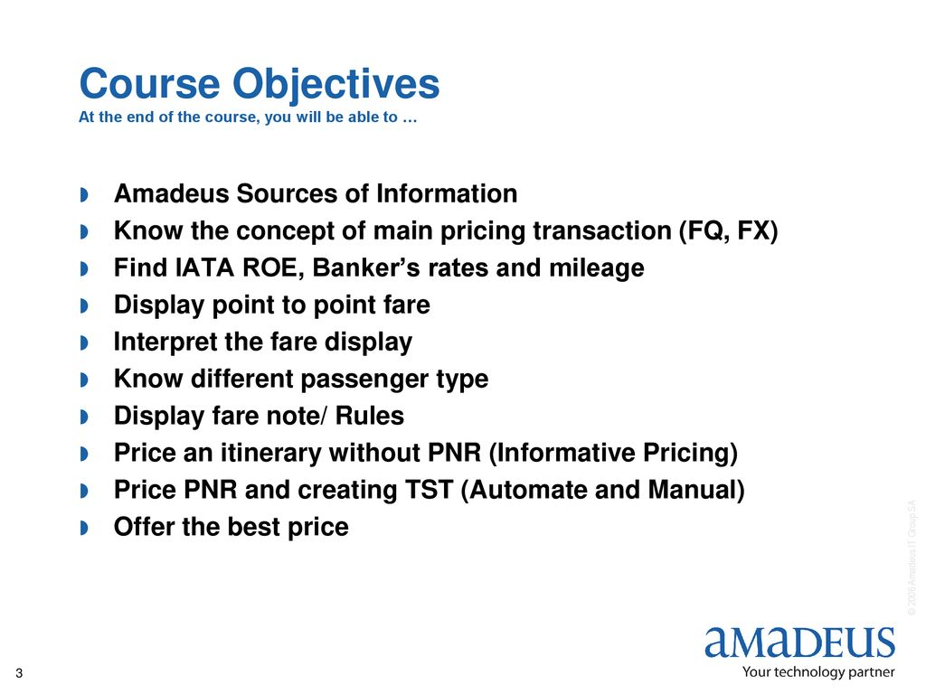 Course Objectives and Agenda - ppt download