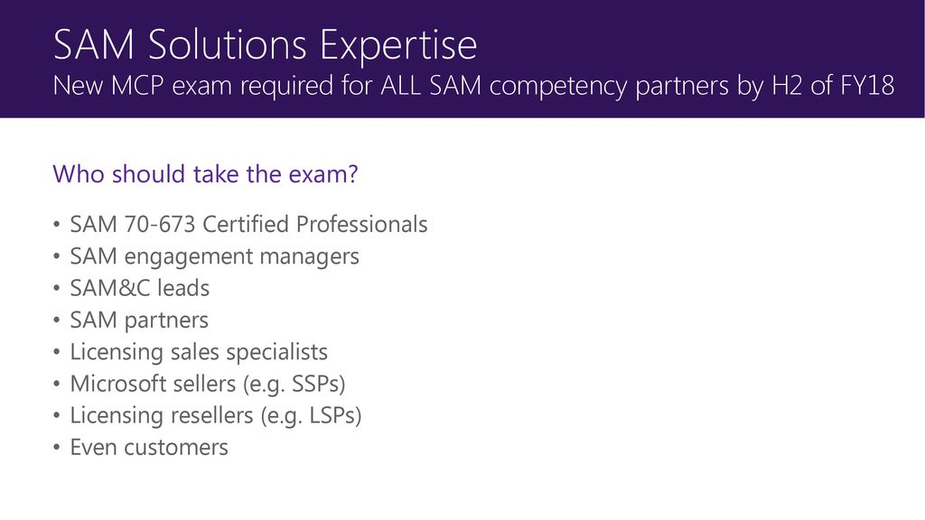 The New Fy18 Microsoft Sam Partner Program Ppt Download