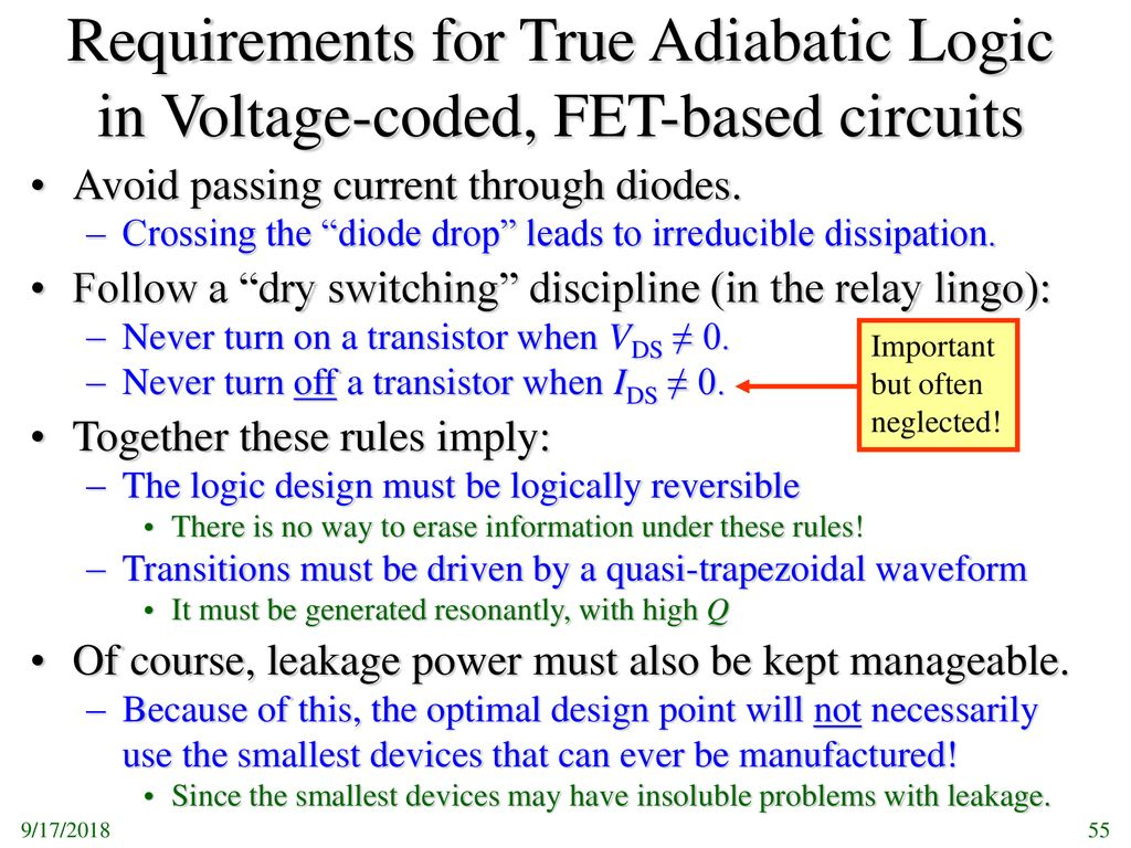 Eel 4930 6 5930 5 Spring 2006 Physical Limits Of Computing Diodes Circuit Exercise Electrical Engineering Stack Exchange Requirements For True Adiabatic Logic In Voltage Coded Fet Based Circuits