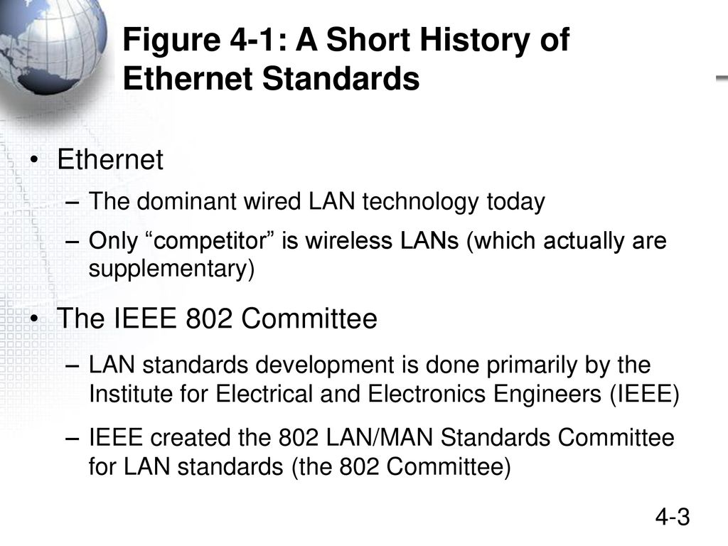Ethernet Lans Chapter 4 Updated January Ppt Download Figure Wiring Diagram For An Crossover Cable 3 1 A Short History Of Standards