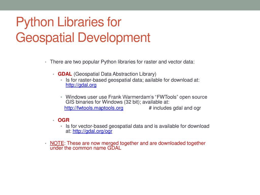 Gdal Library Python