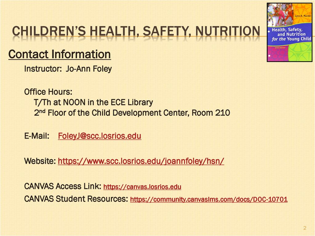 Childrens Health Safety Nutrition Ppt Download