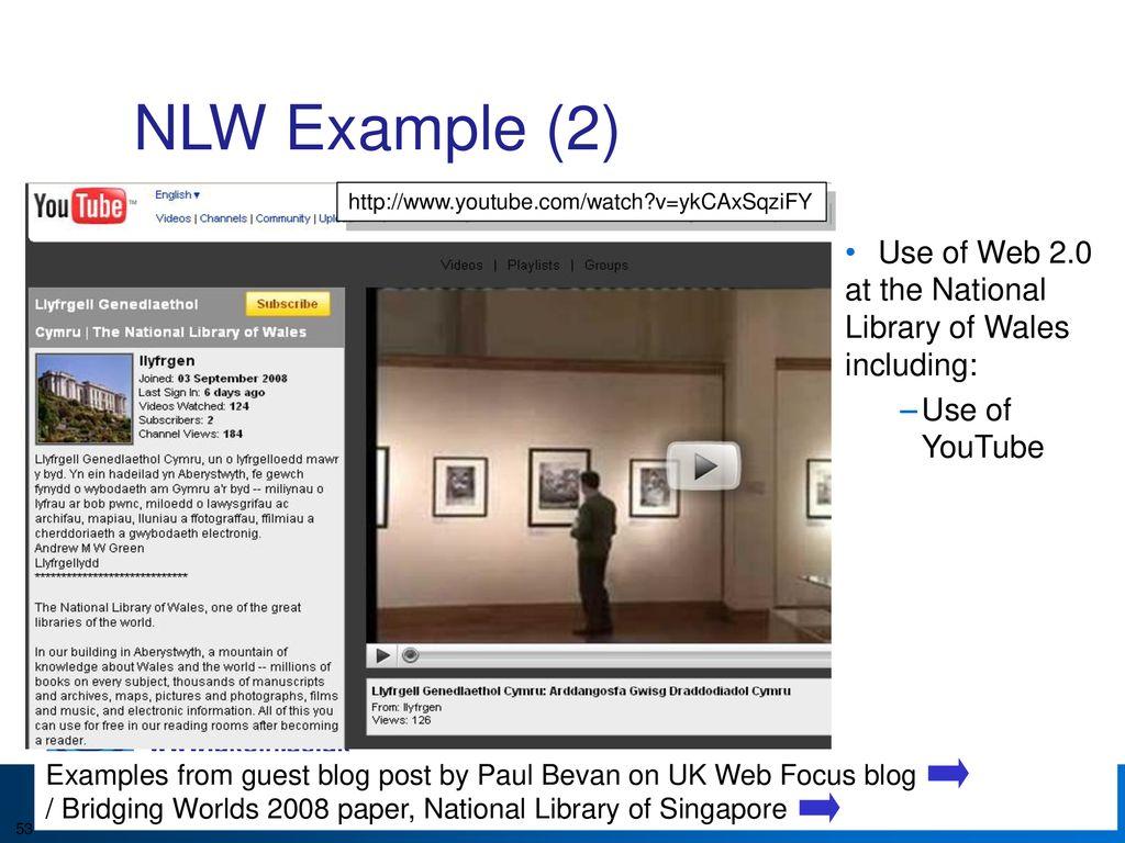 An Introduction to Web 2 0 and the Social Web MLA Marieke Guy, UKOLN