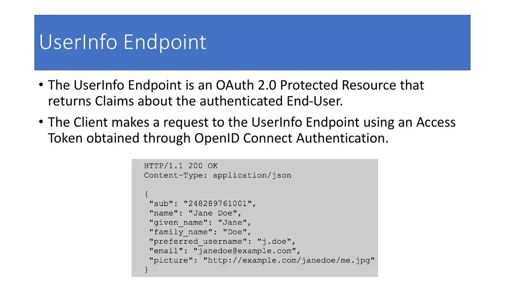 Oidc Endpoints