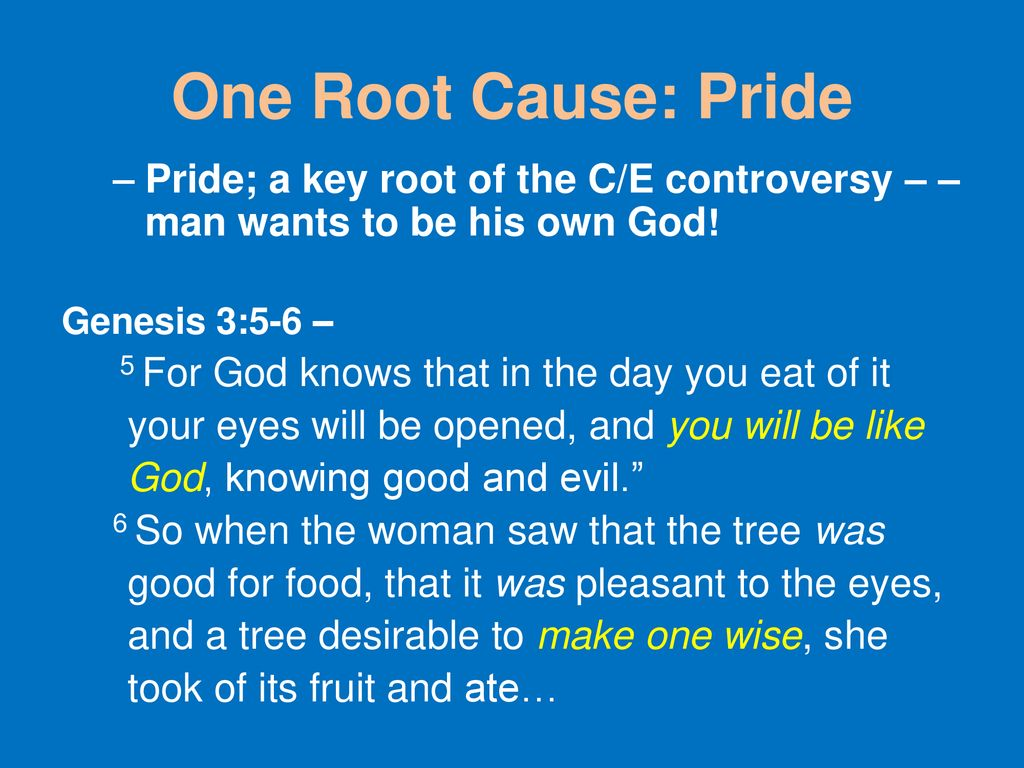 Pride and pride have one root