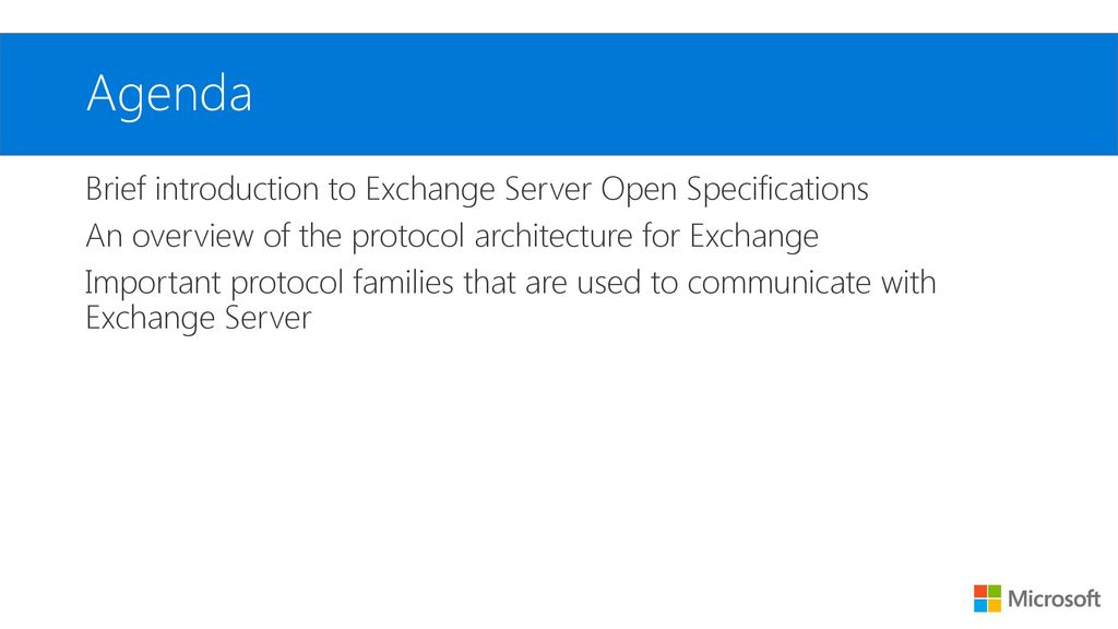 Exchange Protocols Overview - ppt download