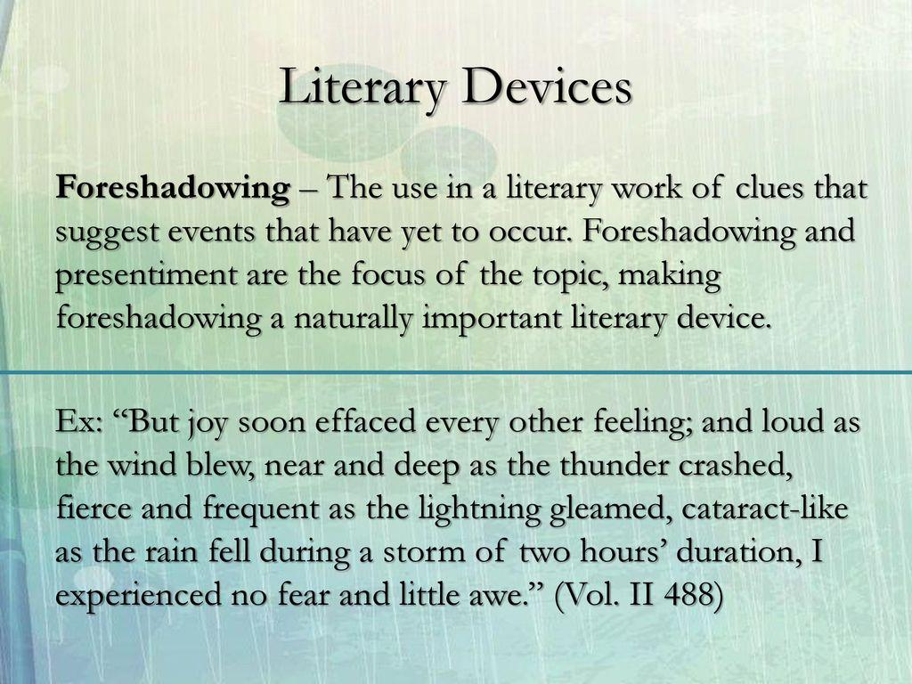 jane eyre literary techniques