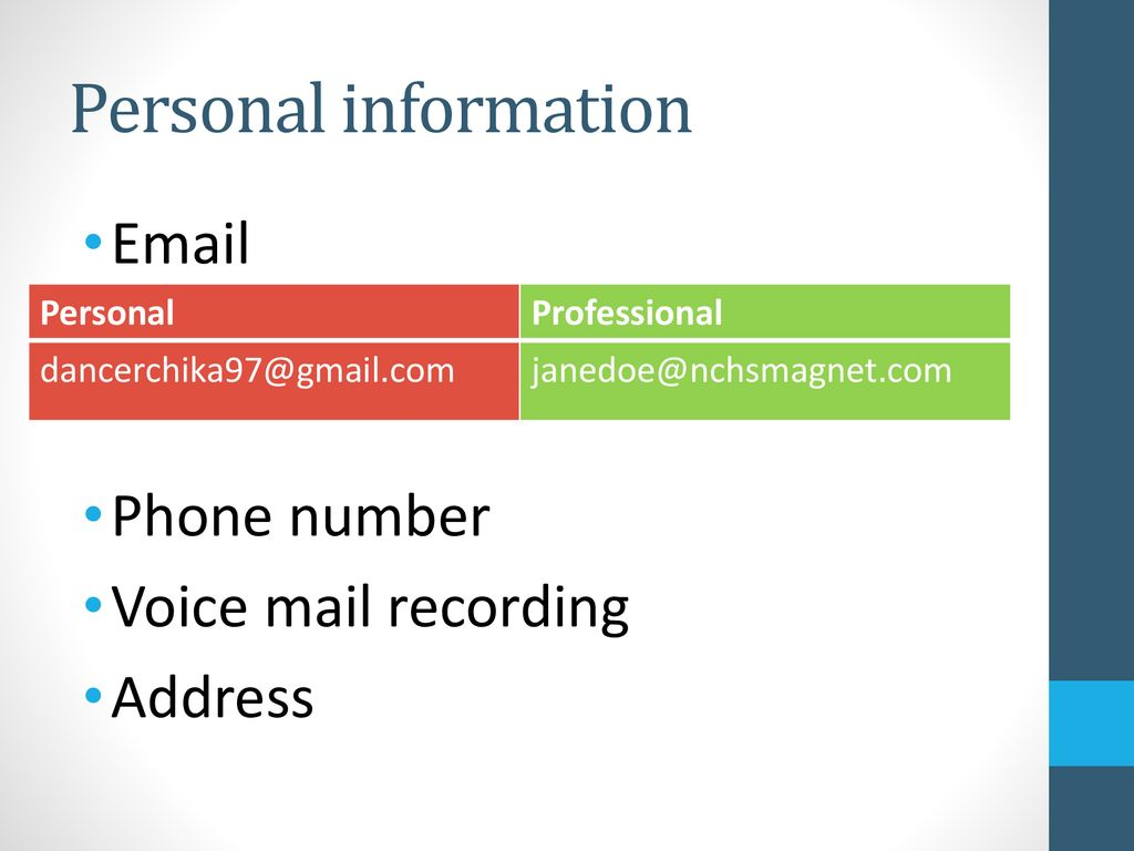 Professional Contact Ppt Download
