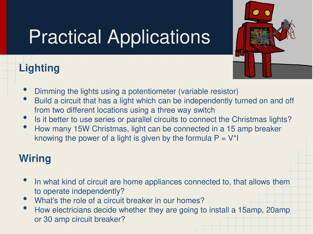 Series Vs Parallel Circuits Ppt Download Wiring Lights In Or 13 Practical Applications Lighting