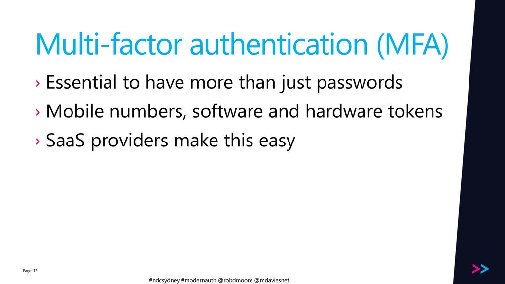 Modern Authentication - ppt download