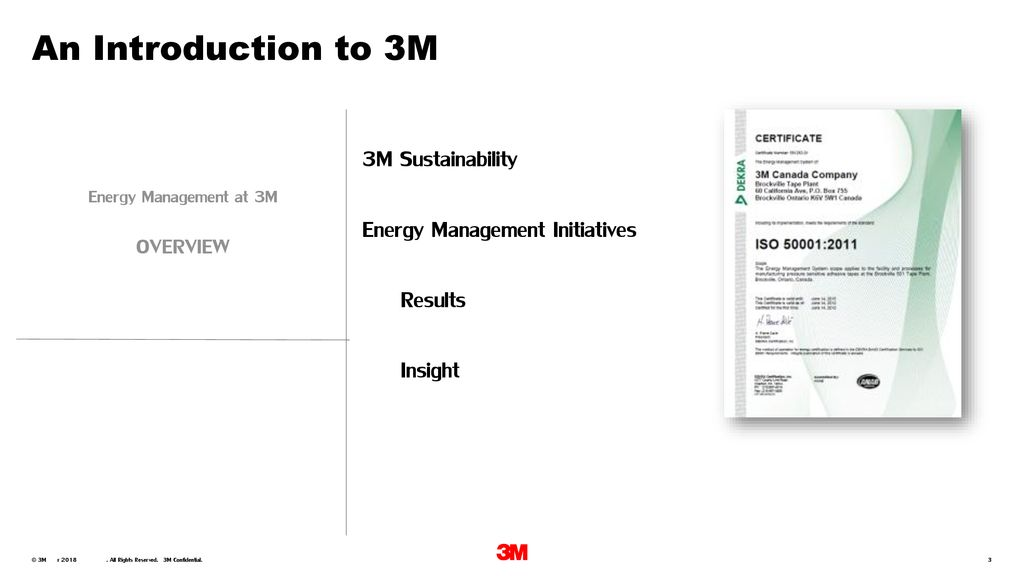 Energy Management at 3M Canada - ppt download