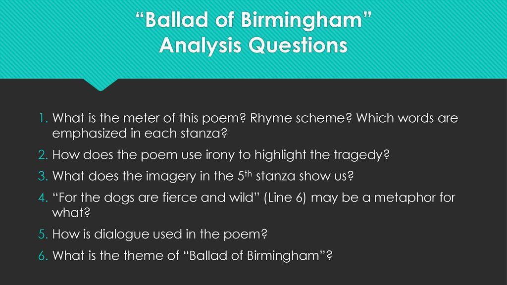 ballad of birmingham rhyme scheme