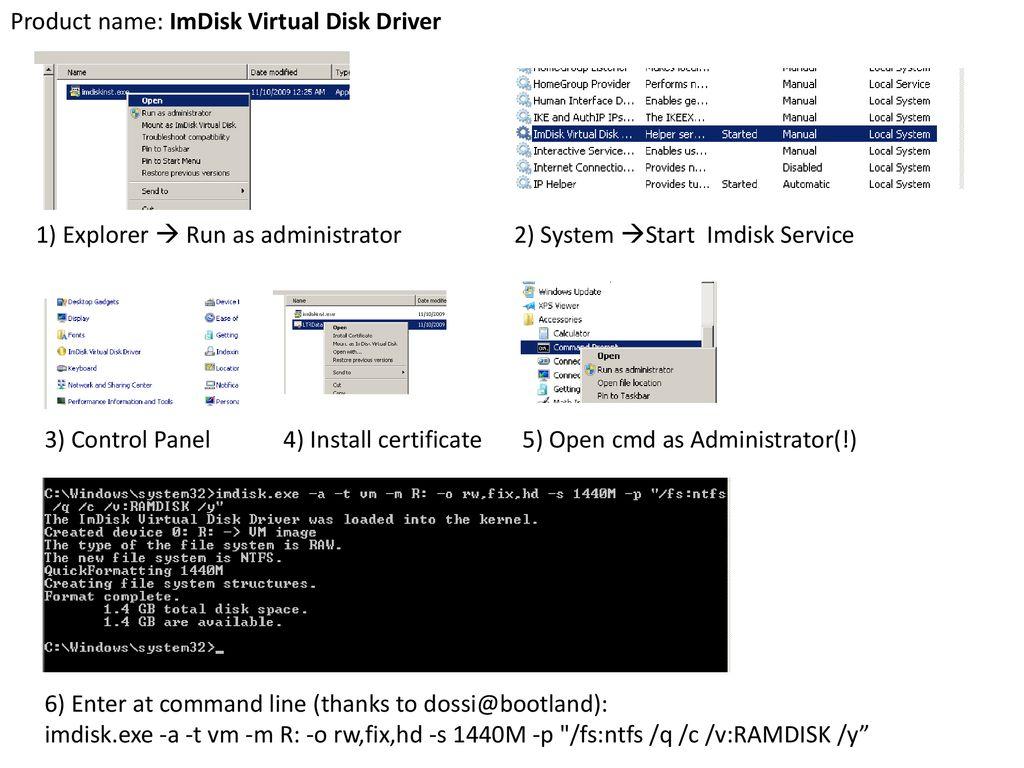 Create Ramdisk Windows 10