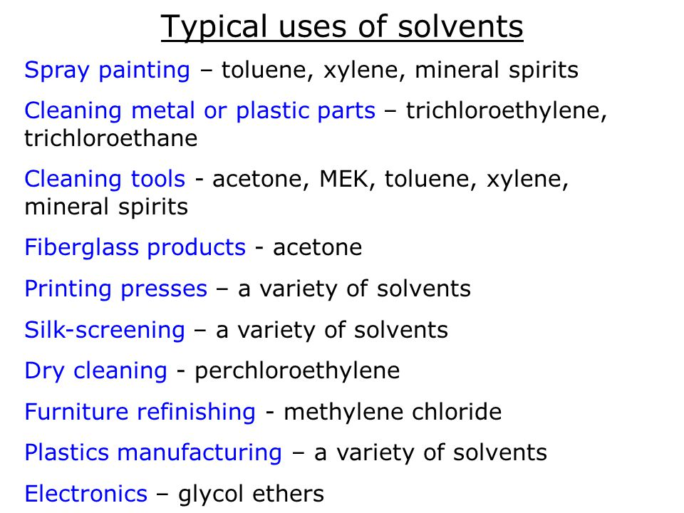 Working Safely with Solvents - ppt video online download