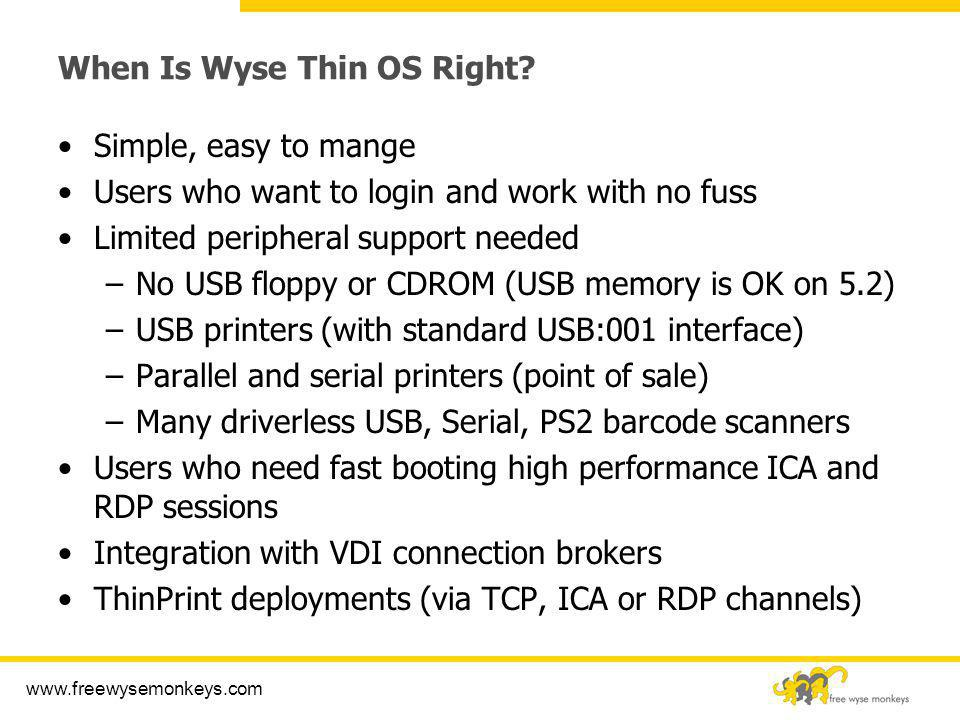 Wyse Thin OS Technical Training - ppt video online download