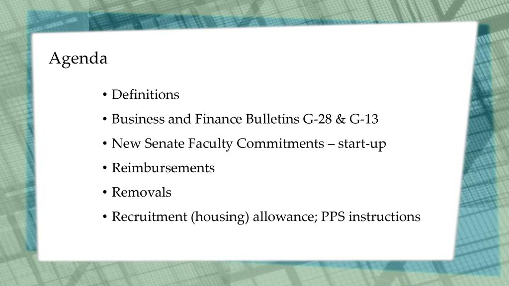 Faculty Removal Recruitment Allowance And Reimbursements Office Of