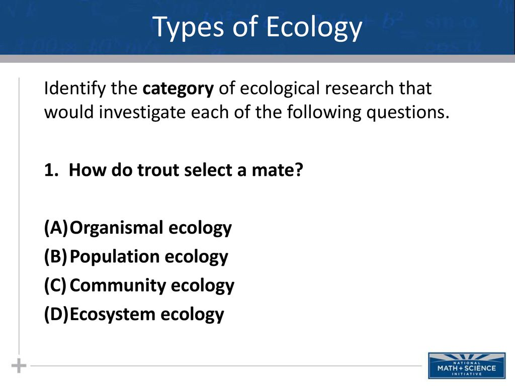 ecology research questions