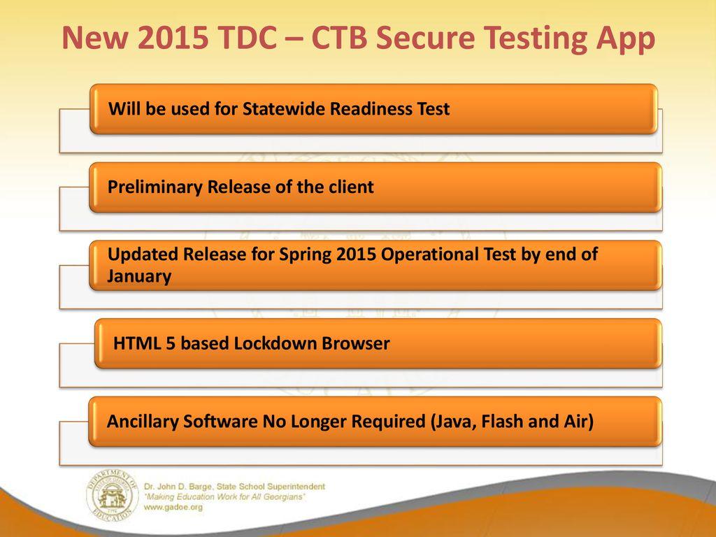 Georgia Milestones Spring 2015 Online Assessments Technical