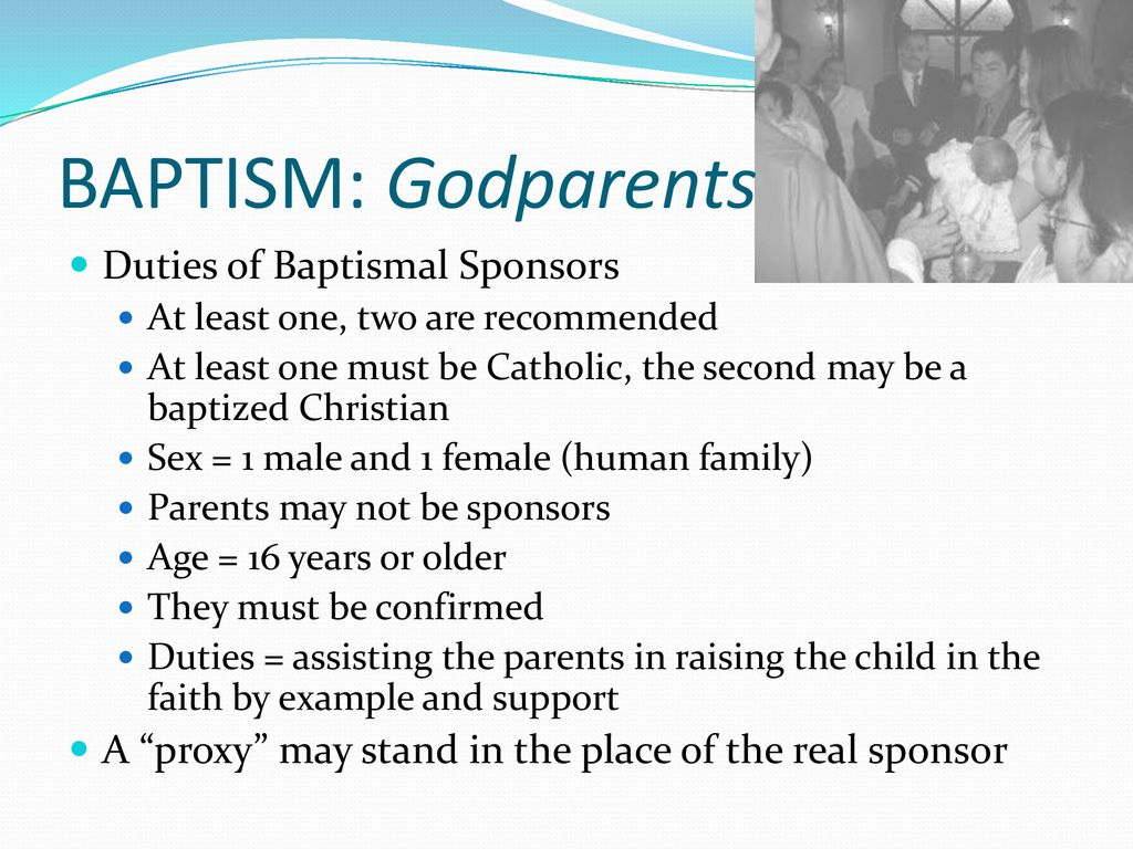 Responsibilities of godparents
