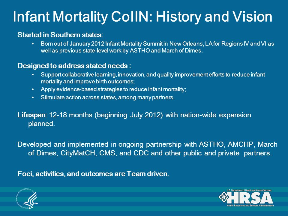 Infant Mortality CoIIN: History and Vision