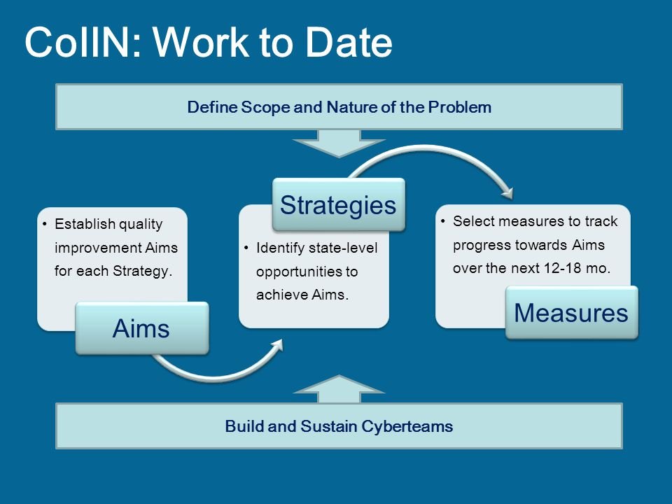 Define Scope and Nature of the Problem Build and Sustain Cyberteams