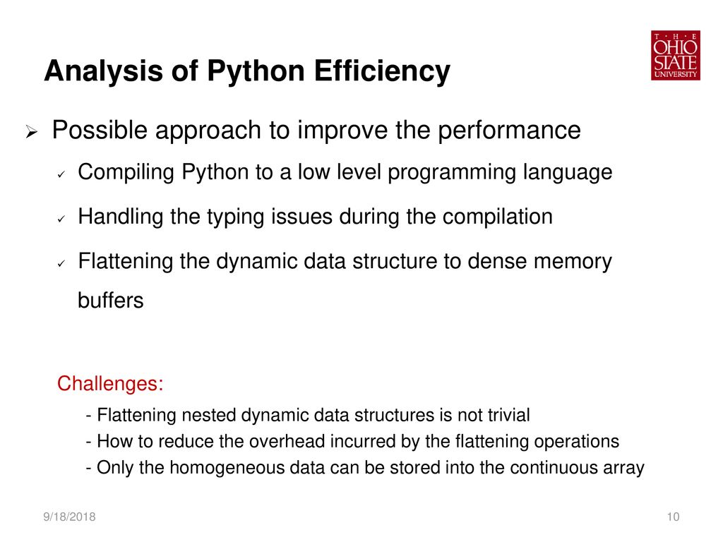 Compiling Dynamic Data Structures in Python to Enable the Use of