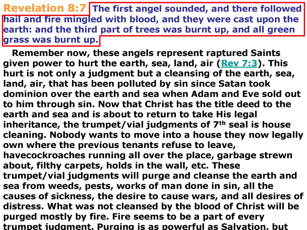 7th Seal 7 Trumpet/vial judgments terrible Day of the Lord - ppt