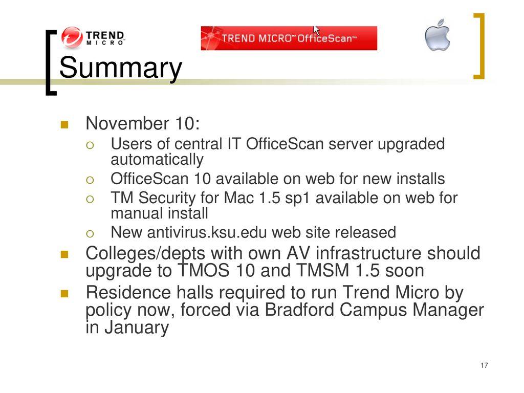 Run Officescan