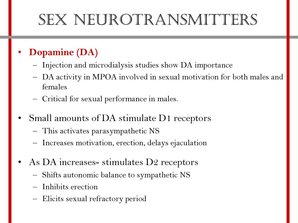 Studies on parasympathetic and sex